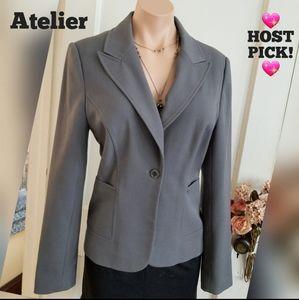 Atelier charcoal grey blazer